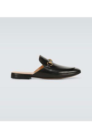 Gucci Leather Horsebit slippers