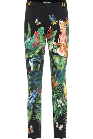 Dolce & Gabbana Printed stretch-cotton pants