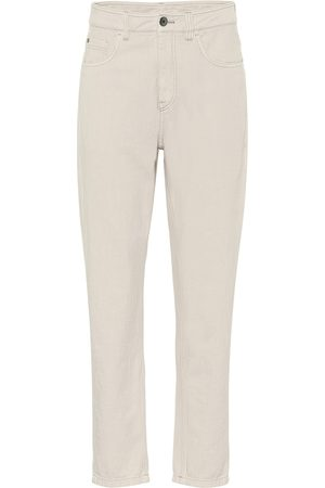 Brunello Cucinelli High-rise relaxed-straight jeans
