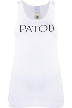 Patou Logo print tank top