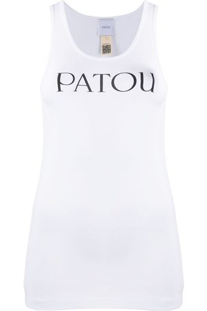 Patou Women Tank Tops - Logo print tank top
