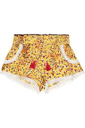 POUPETTE ST BARTH Lulu printed georgette shorts