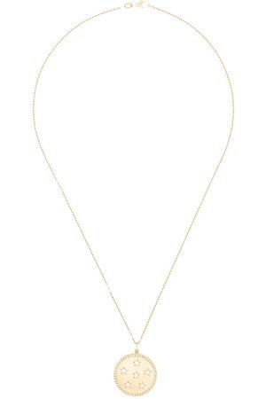 Andrea Fohrman 14kt yellow good Full Moon diamond star necklace