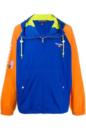 POLO RALPH LAUREN SPORT Contrast-sleeve hooded jacket