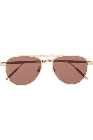 Mont Blanc Aviator frame tinted sunglasses