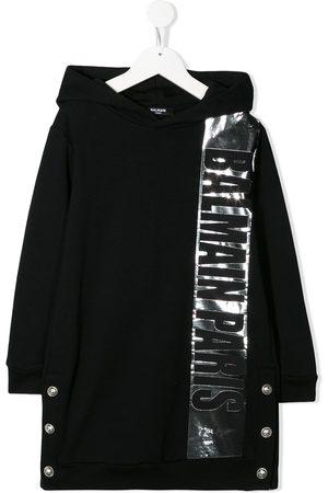 Balmain Logo-print hooded dress
