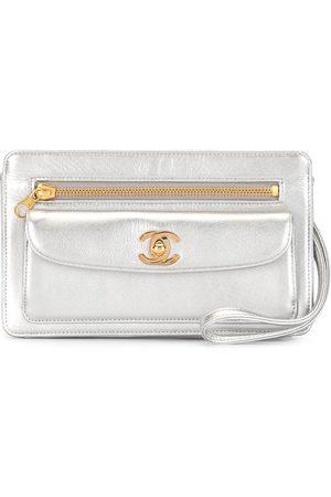 CHANEL 1997 CC logo clutch bag