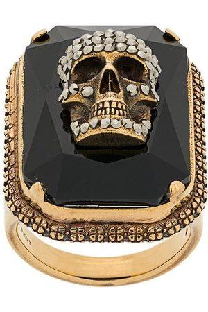 Alexander McQueen Skull on crystal ring