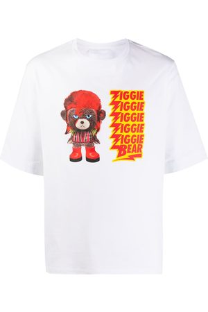 Neil Barrett Ziggie bear print cotton T-shirt