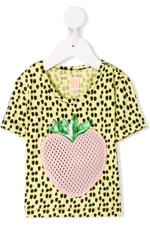 Wauw Capow by Bangbang Baby Short Sleeve - Johanna strawberry appliqué T-shirt