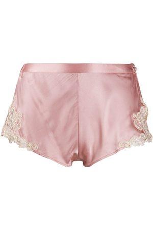 La Perla Women Briefs Shorts - Lace trimmed pajama shorts