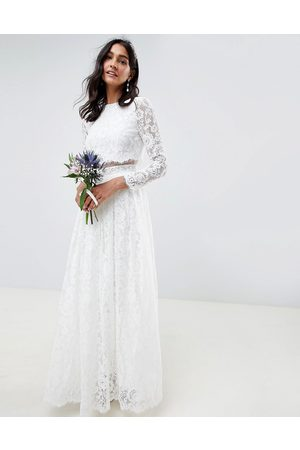 ASOS Grace lace crop top wedding dress