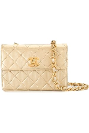 Chanel Pre-Owned 1990 mini diamond quilted chain crossbody bag