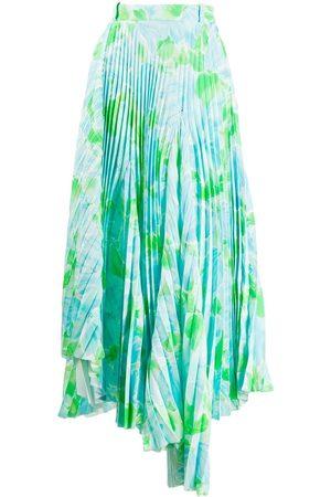 Balenciaga Dynasty floral-print pleated skirt