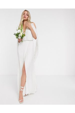 ASOS Women Evening Dresses - Samantha beaded wedding dress with drape sleeves