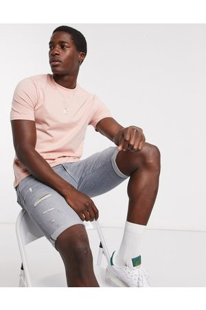 River Island Men Short Sleeve - Oversized marl tee in coral