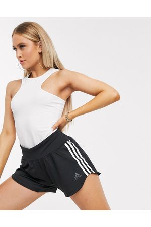 adidas Adidas Training three stripe woven shorts in