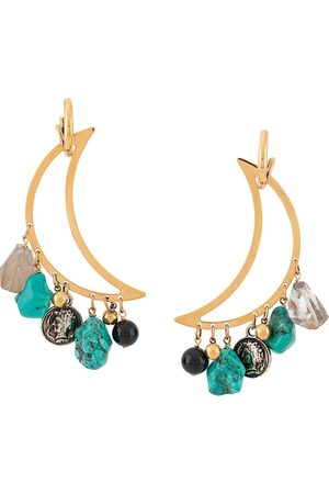 La DoubleJ Luna pendant earrings