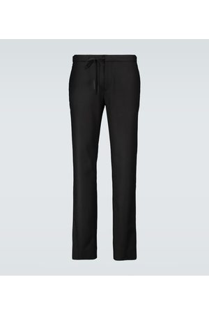 Maison Margiela Wool flannel drawstring pants