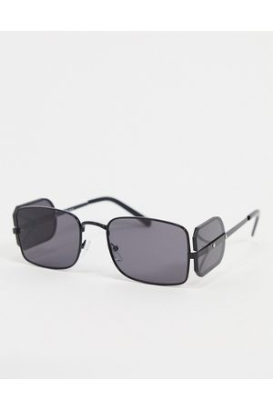 Jeepers Peepers Slim square sunglasses in with lens side cap
