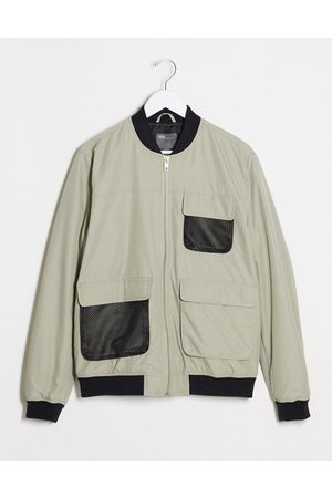 ASOS Bomber jacket with utility details in
