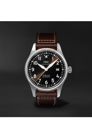 IWC SCHAFFHAUSEN Men Watches - Pilot's Spitfire Automatic 39mm Stainless Steel and Leather Watch, Ref. No. IW326803