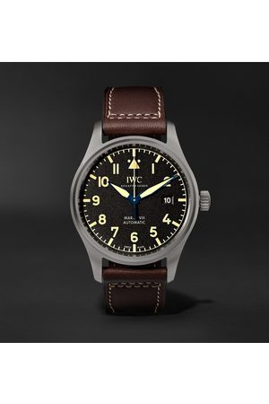 IWC SCHAFFHAUSEN Men Watches - Pilot's Mark XVIII Heritage Automatic 40mm Titanium and Leather Watch, Ref. No. IW327006