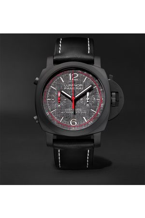 PANERAI Luminor Luna Rossa Challenger Automatic Flyback Chronograph 44mm Ceramic and Leather Watch
