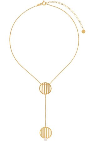 HSU JEWELLERY LONDON Double circle necklace