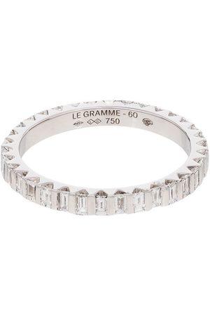 Le Gramme 18kt white diamond full pave ring