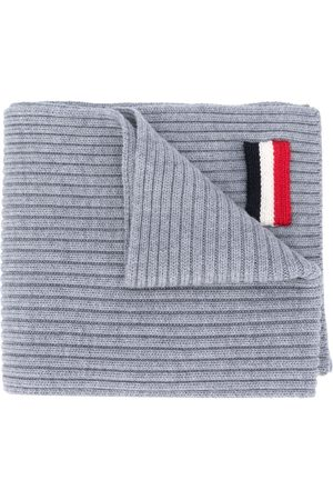 Moncler Tricolour patch scarf
