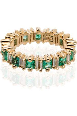 Suzanne Kalan Women Rings - 18kt yellow gold emerald and diamond ring