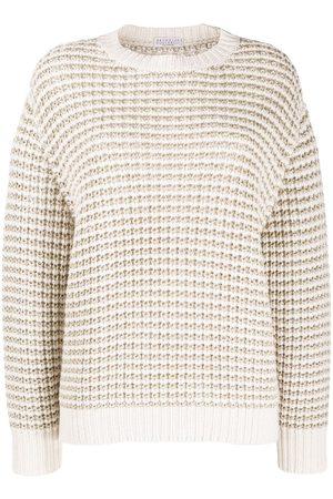 Brunello Cucinelli Metallic textured knit jumper