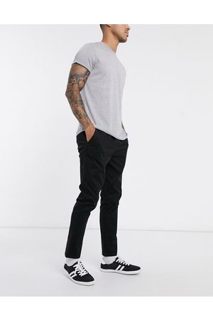 ASOS Slim chinos with elastic waist in