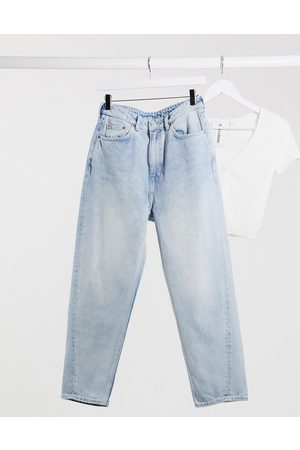 Weekday Meg organic cotton mom jeans in morning