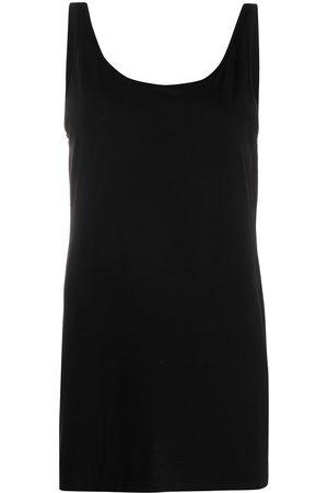Eileen Fisher Long scoop neck tank top