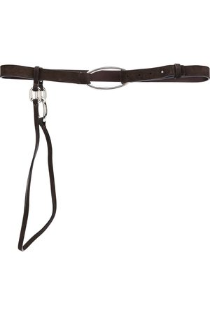 Gianfranco Ferré 1990s oval buckle belt