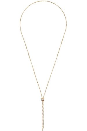 Boucheron 18kt yellow, rose and white gold Quatre mini tie diamond and brown PVD necklace
