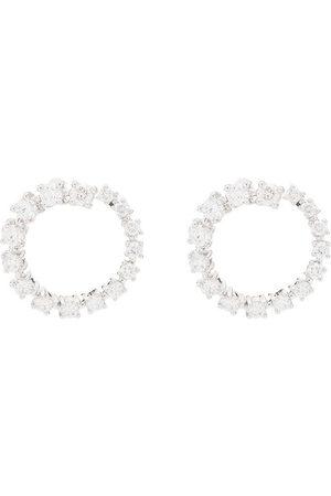 Dana Rebecca Designs Women Earrings - 14kt white gold diamond hoop earrings
