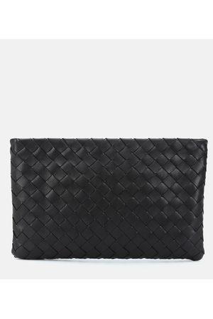 Bottega Veneta Medium intrecciato leather clutch