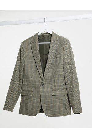 River Island Slim fit suit jacket in heritage check