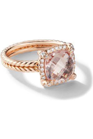 David Yurman 18kt rose gold Châtelaine diamond and morganite ringpav