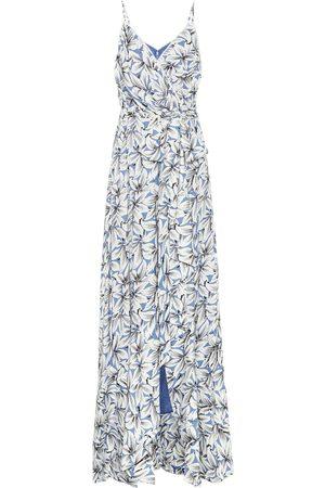 JONATHAN SIMKHAI Ava floral linen-blend maxi dress
