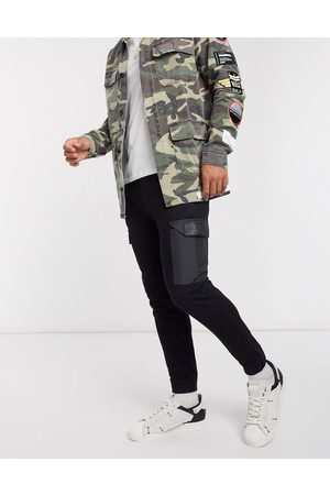 The Couture Club Contrast pocket tapered cargo joggers in