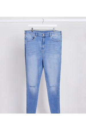 Dr Denim Plus Women Skinny - Moxy sky high super skinny jeans with ripped knees