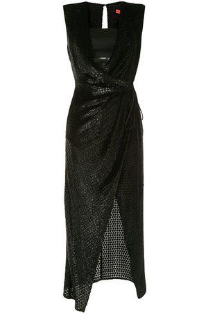 MANNING CARTELL Wrap front textured dress