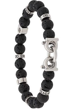 Salvatore Ferragamo Lava stone bead Gancini bracelet