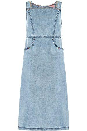 BAPY Women Sleeveless Dresses - Sleeveless embellished denim dress
