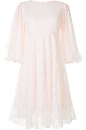 BAPY Women Dresses - Embroidered puff-sleeve dress