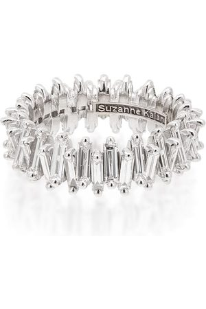 Suzanne Kalan 18kt white gold baguette-cut diamond ring